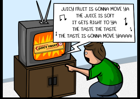 via The Oatmeal: http://theoatmeal.com/comics/juicy_fruit