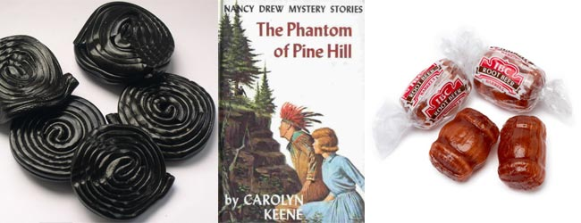 Licorice whips, Nancy Drew and Root Beer Barrels