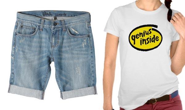 Dawn Schaefer wearing genius inside blue jean shorts
