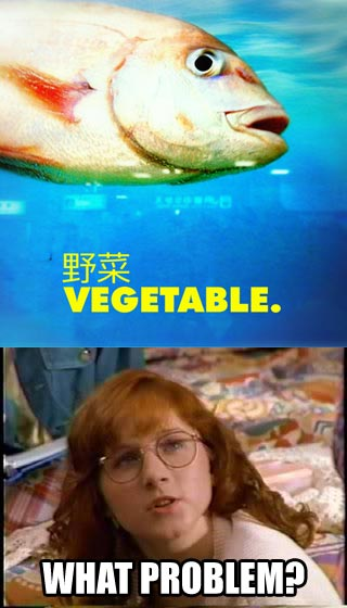 Mallory Pike feeds Dawn tuna