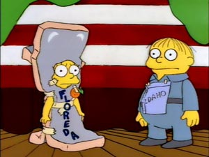 Florida and Idaho costumes, Simpsons