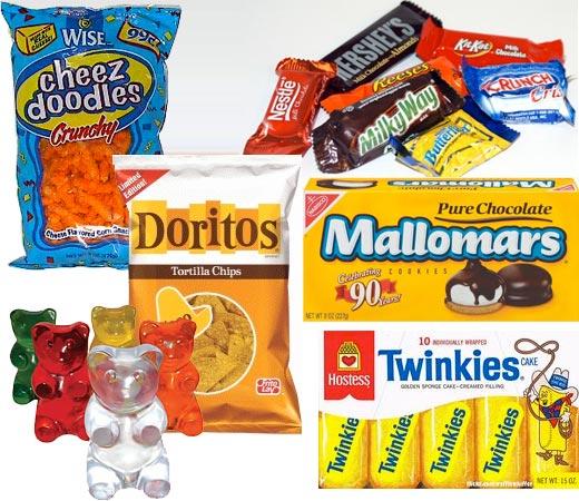 Claudia's junk food